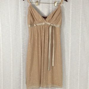 First Kiss-Gold Sparkly Party Dress-Size Large Jr.